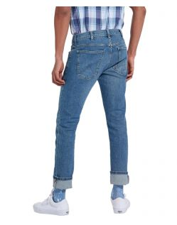 Wrangler Larston - Slim Tapered Jeans in Blue Charm f02