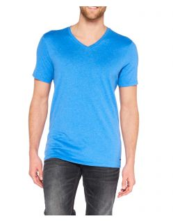 65080Colorado Joaquim - V-Neck T-Shirt - Strong Blue Mel