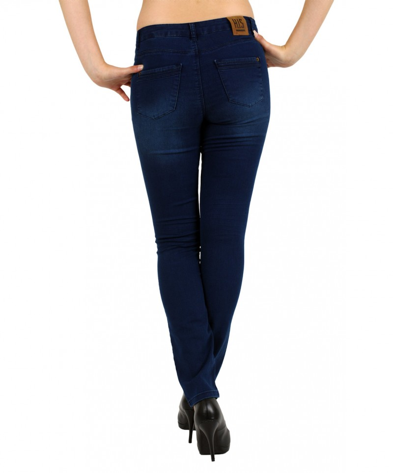 HIS Marylin Jeans - Comfort Fit - Dark Power Blue