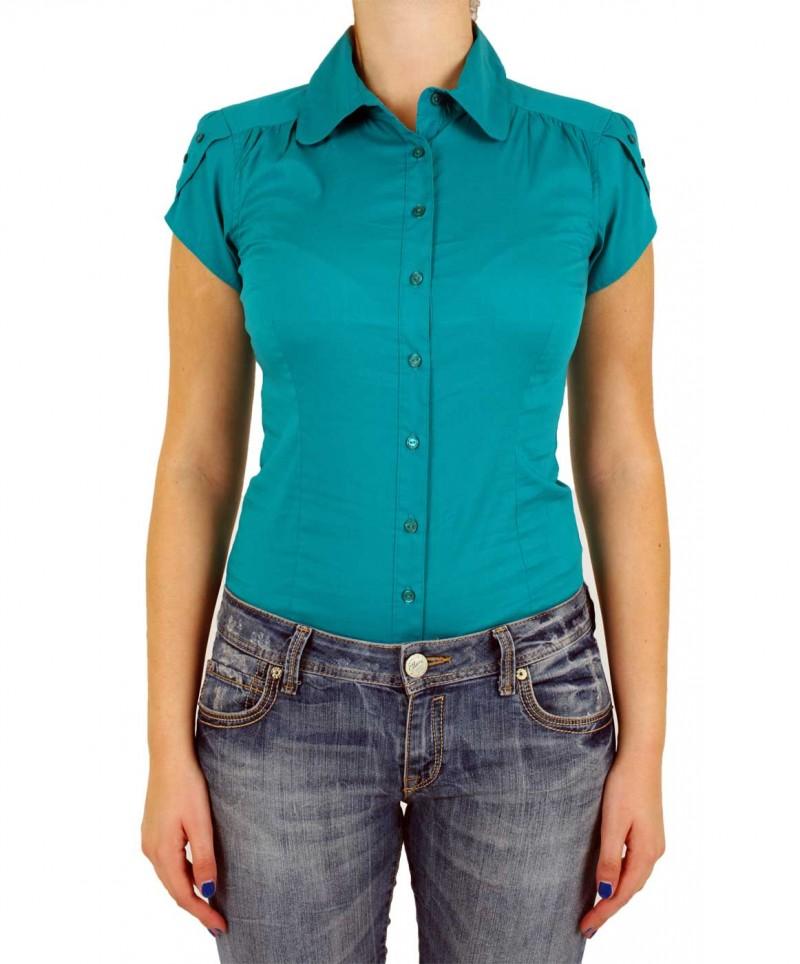 Vero Moda COUSIN - taillierte Bodybluse - Tile Blue