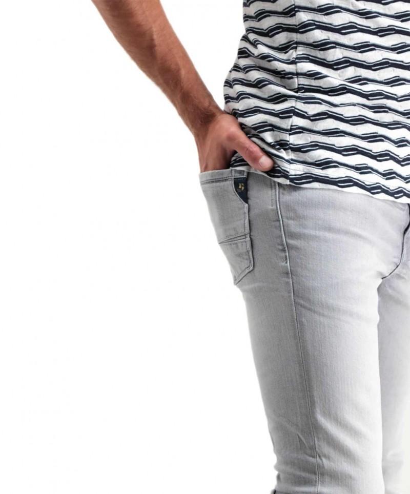 Garcia - Hellgraue Jeans mit eng zulaufendem Beinverlauf