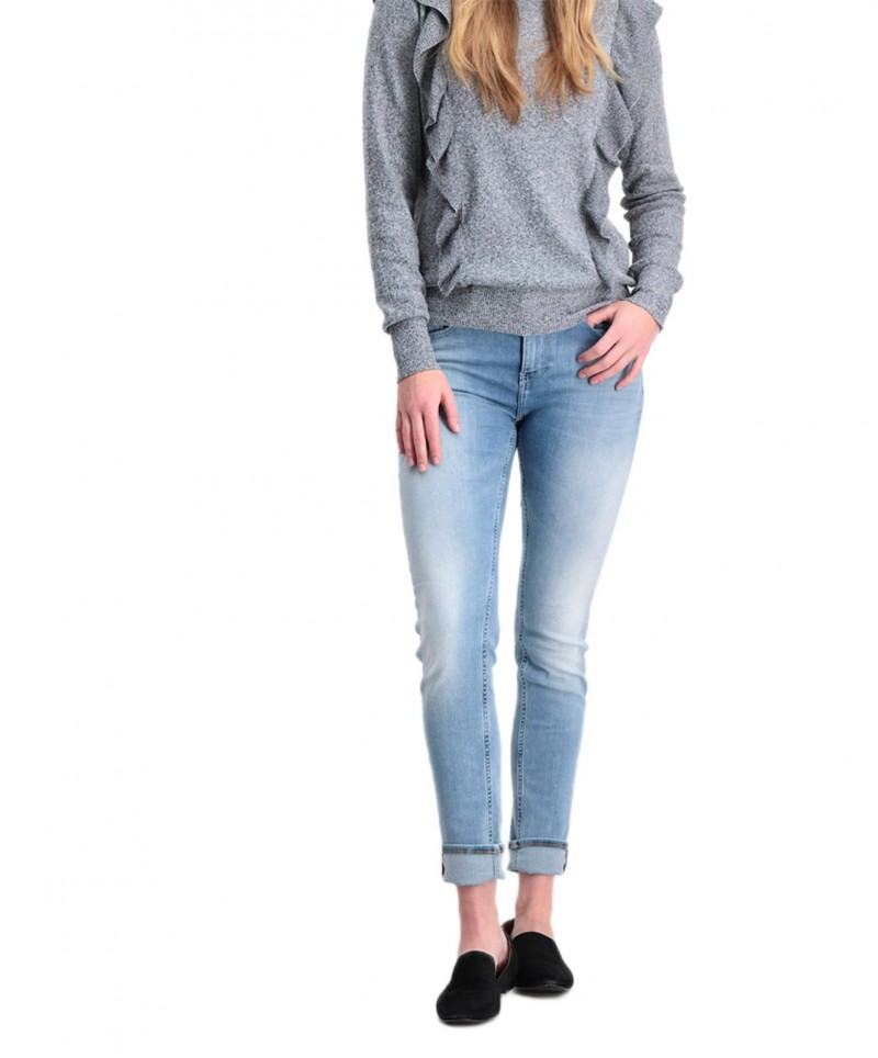 Garcia Celia - High Waisted Jeans in hellblau verwaschen