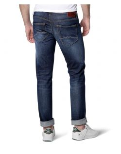 MUSTANG OREGON Taperd Jeans - Slim Fit - Dark Rinse Used - Hinten