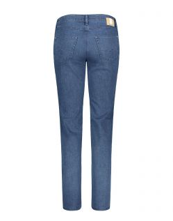 MAC Melanie - Slim Fit Jeans - Mid Blue Basic Wash - Hinten