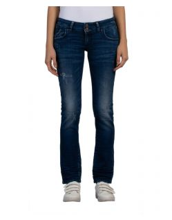 LTB Molly - Slim Fit Jeans im blauem Used Look