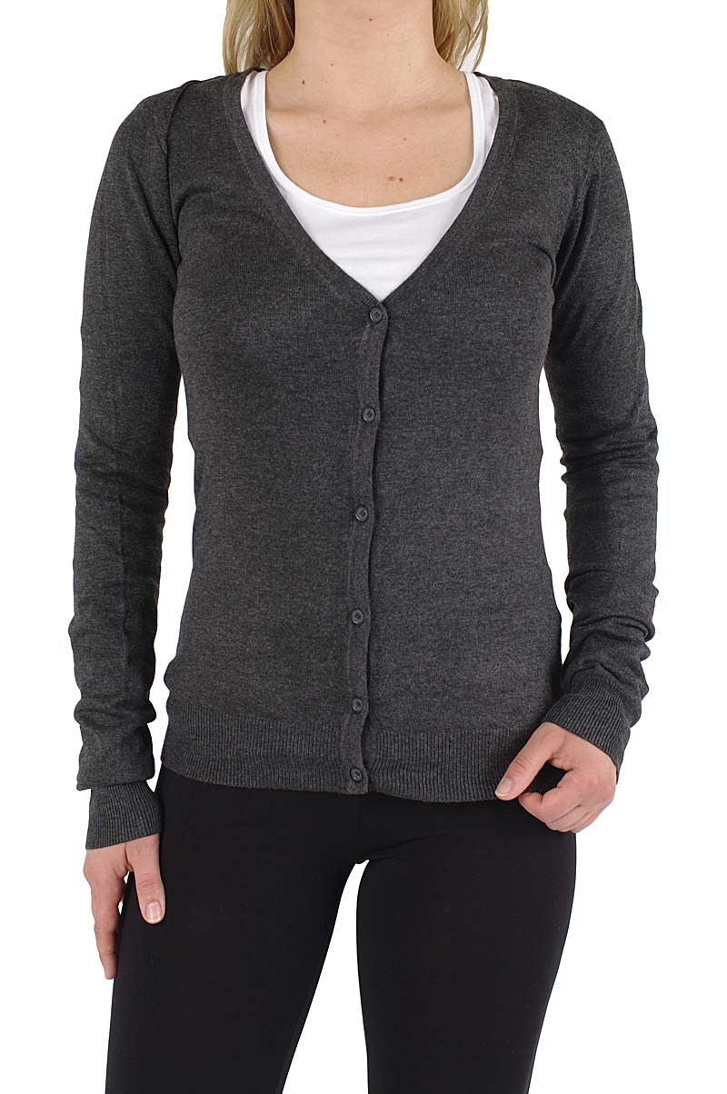 Vero Moda Glory v-neck cardigan Dark Grey Mel