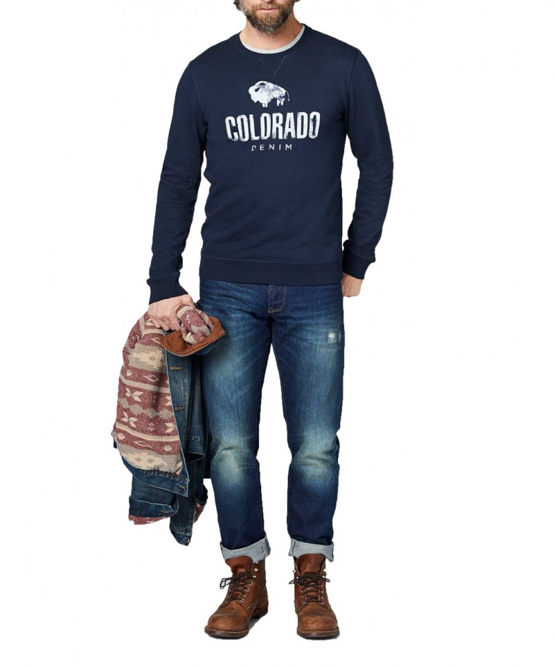 Colorado Richard - Sweatshirt - Dunkelblau