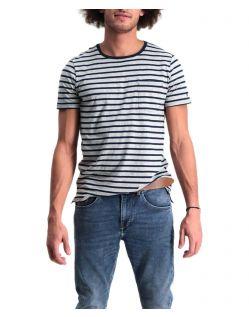 Garcia Rico - Schmal geschnittenes T-Shirt mit Streifen