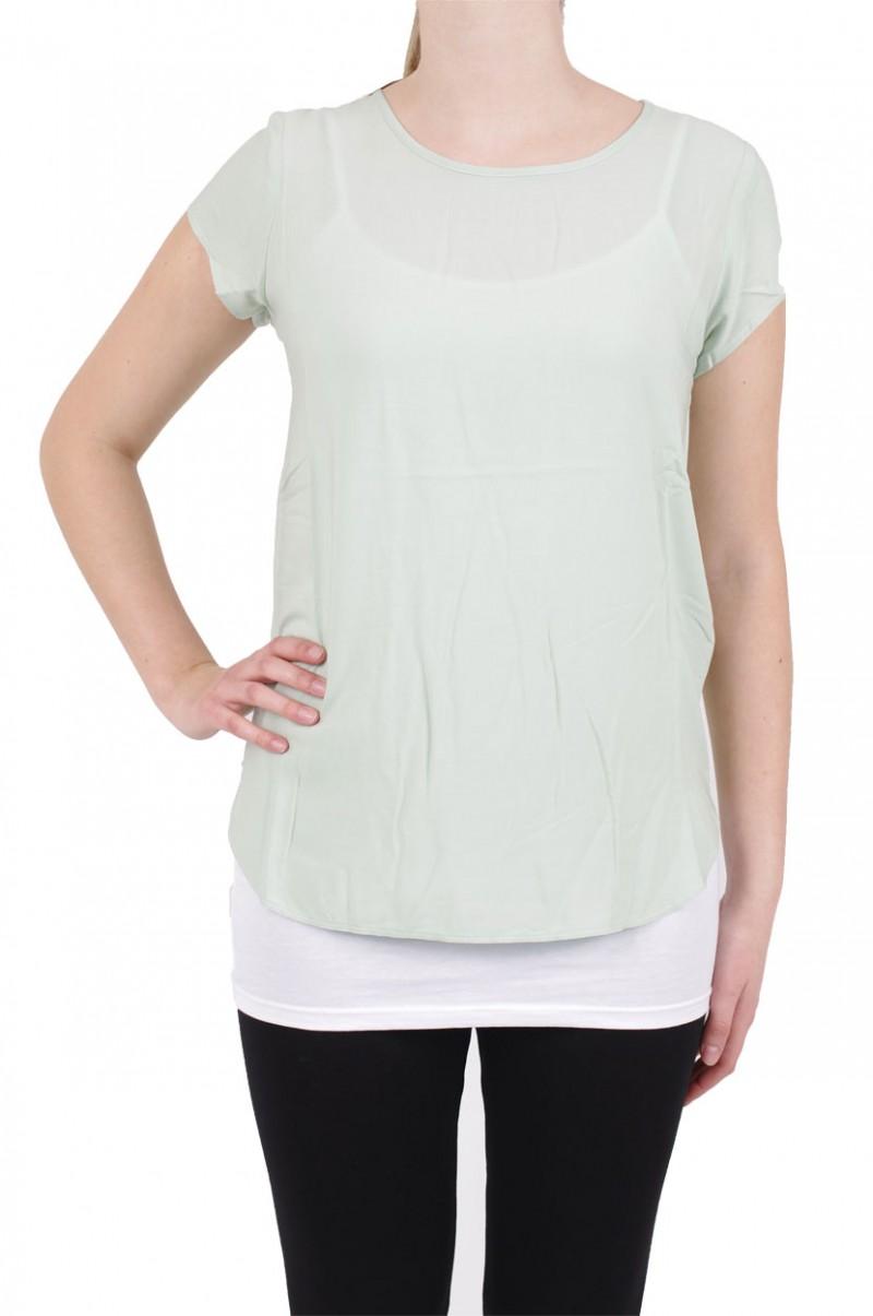 Vero Moda BOCA SS Top - Bluse - Aqua Foam v