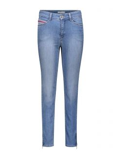 MAC Angela Zip - Slim Fit Jeans - Light Blue