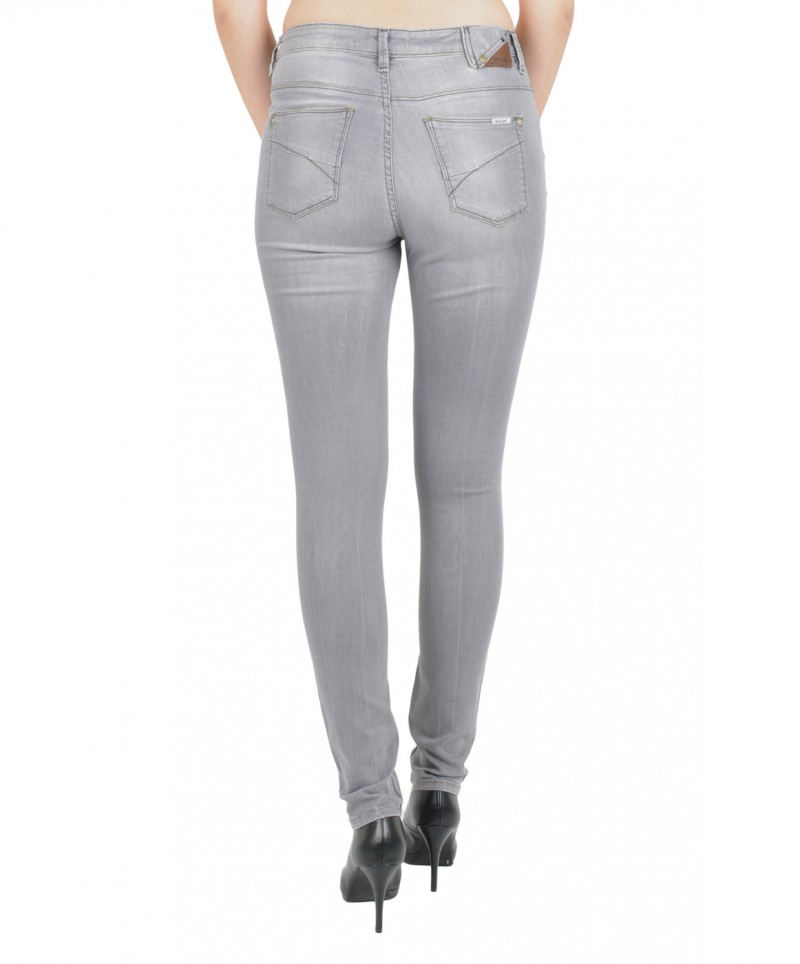 GARCIA Jeans CELIA - Super Slim Leg - High Waist - Medium Grey