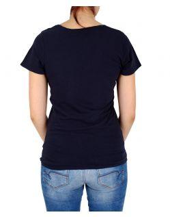 Garcia Donna - T-Shirt - Loose Fit - V-Ausschnitt - Dunkelblau - Hinten