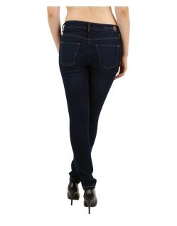 MAC DREAM SKINNY - Slim Fit Jeans - Dark Used - Hinten