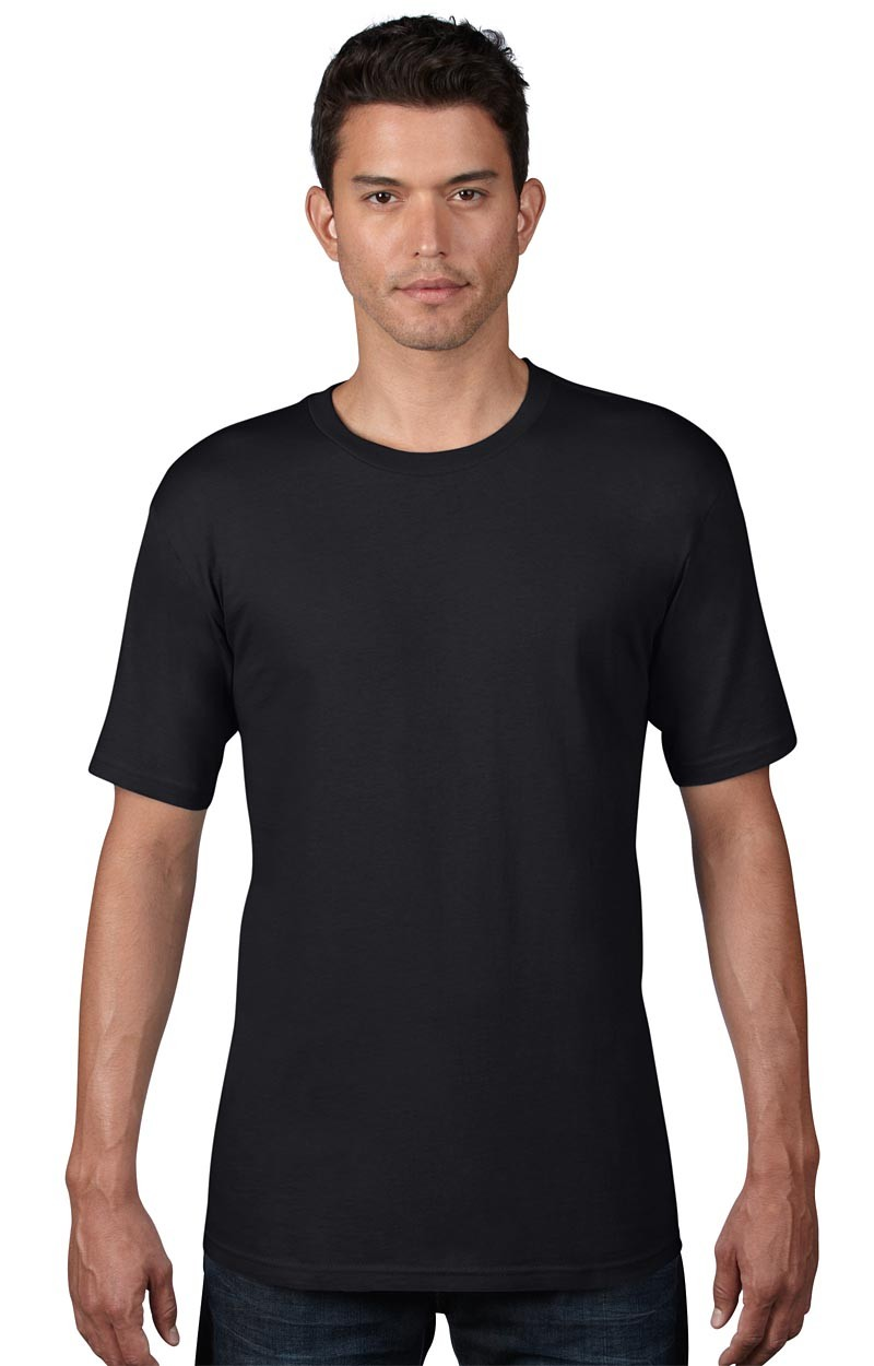 Anvil T-Shirt - AnvilOrganic™ Tee - Schwarz