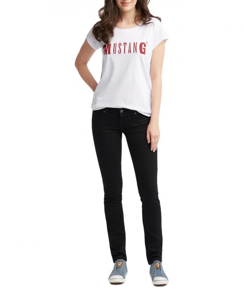 Mustang Gina Skinny Jeans in verwaschenem Schwarz