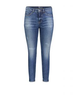 Mac Skinny - Vintage Jeans in blauer used Optik
