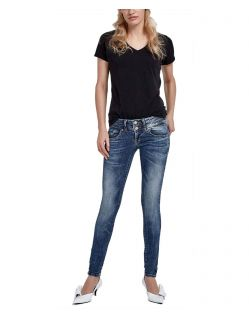 LTB Julita X - Hautenge Jeans in mittelblauer Used Look