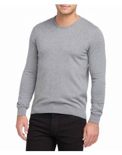 Grauer Pullover Herren mit Rundhalsausschnitt - Vorne