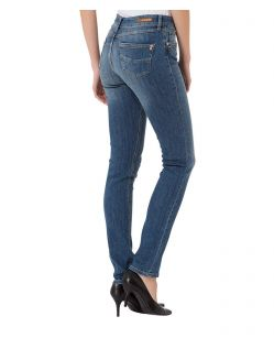 CROSS Anya - High Waisted Jeans - Blue Used - Hinten