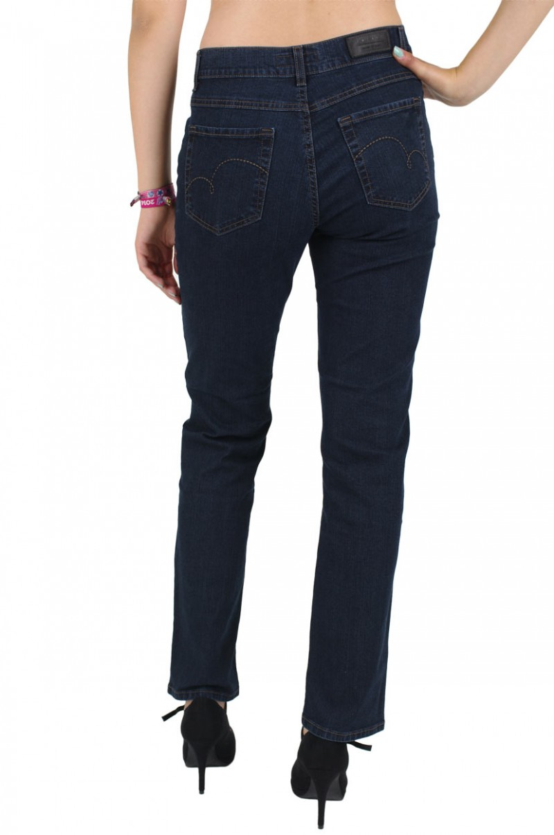 Angels Dolly Jeans - Straight Leg - Dark Washed