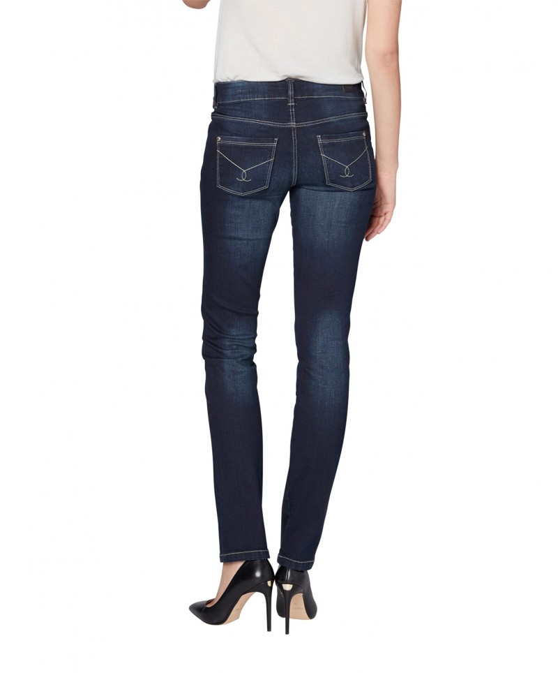 Colorado Layla - High Waist Jeans - Dark Blue Used