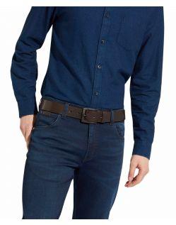 Wrangler Jeans - Ledergürtel mit Logo in braun