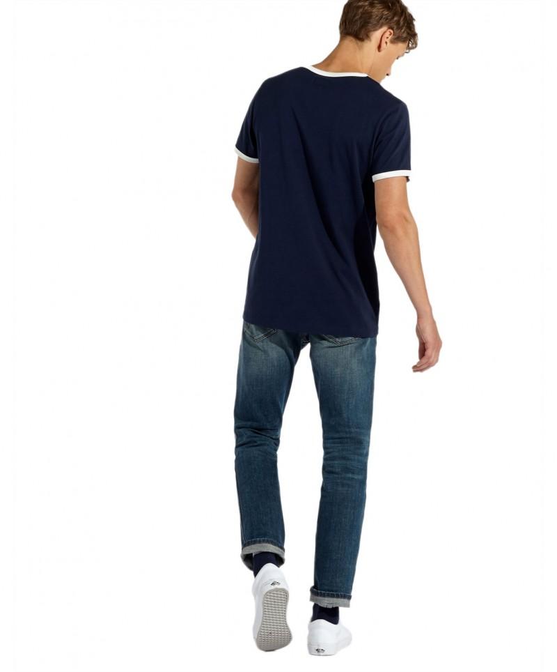 Wrangler - Blaues Logo T-Shirts mit Rundhals f01
