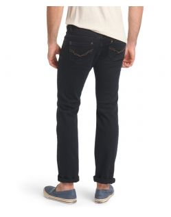 HIS Randy Jeans- Straight Leg - Depp Blue Black - Hinten