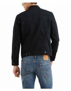 Levis - Schwarze Jeansjacke Herren in normaler Passform f02