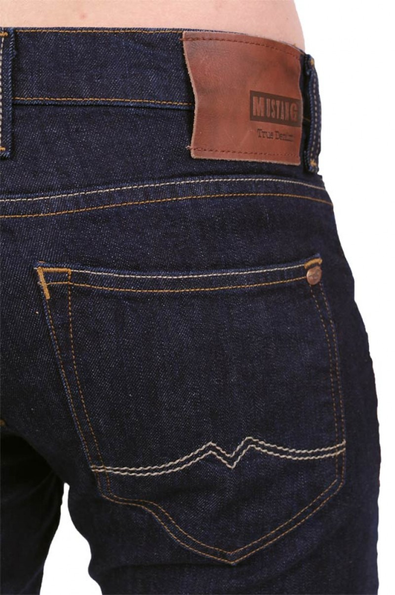 MUSTANG CHICAGO TARPED Jeans - Rinse Wash