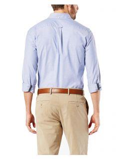 Dockers - Elastisches Oxford-Hemd in Blau von hinten