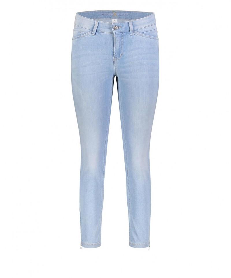 Schlussverkauf anders großes Sortiment Mac Dream Chic - hellblaue Ankle Jeans mit kurzen Zippern
