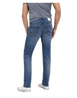 HIS STANTON - Straight Fit Jeans - Pure Medium Blue - Hinten