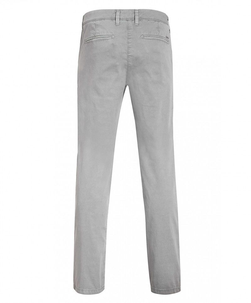 MAC LENNY Hose - Satin Stretch - Tin Grey