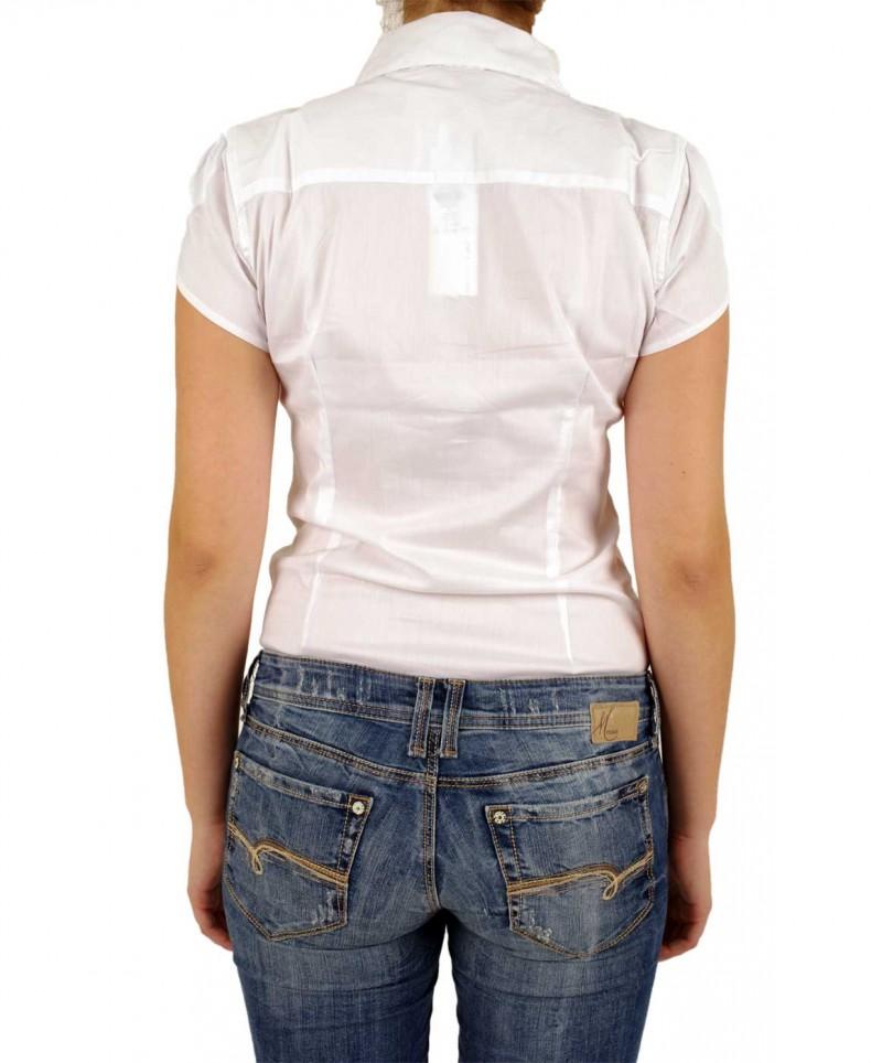 Vero Moda COUSIN - taillierte Bodybluse - Weiss