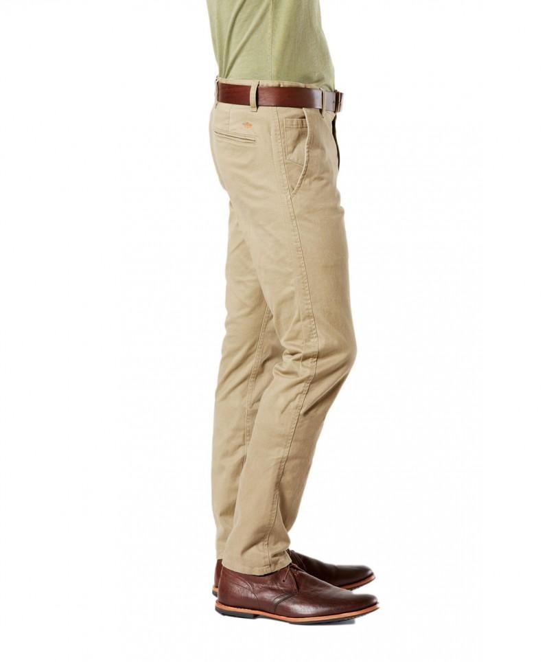 DOCKERS ALPHA - Original Skinny - New British Khaki