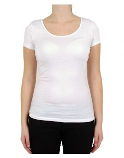 VERO MODA T-Shirt - Soft U-NECK - Weiss