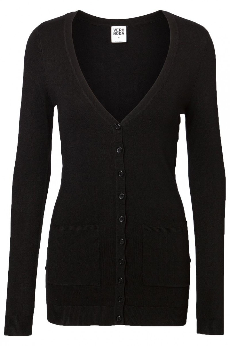 Vero Moda Glory New - Strickjacke Long - Black