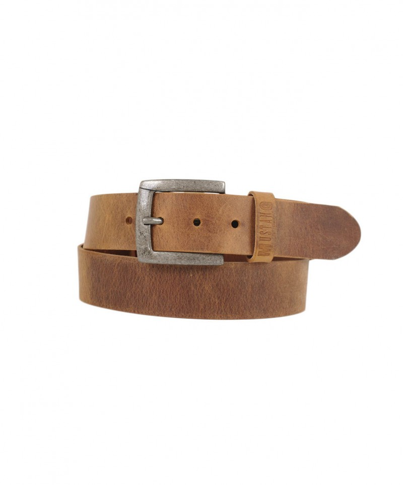 Mustang Squared Buckle Belt beige
