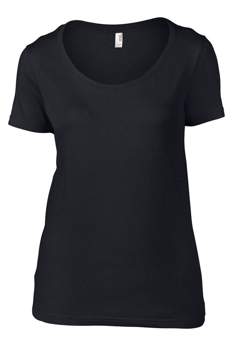 Anvil T-Shirt - Sheer Scoop - Black