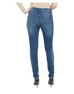 GARCIA Jeans CELIA - Super Slim Leg - High Waist - Blue Worn - Hinten