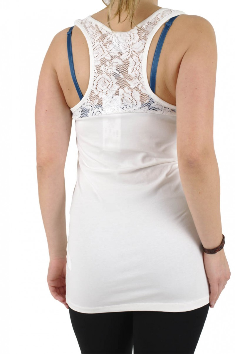 Vero Moda - Tank Top Hoja Lace - weiß