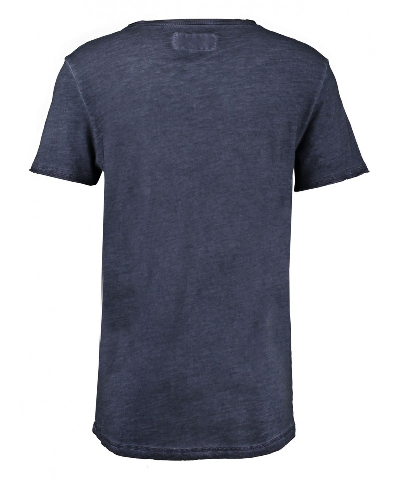 GARCIA MARCO - V-Neck T-Shirt - Dunkelblau - Vorne