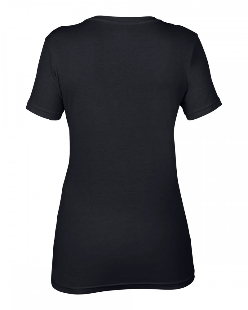 Anvil T-Shirts - Sheer V-Ausschnitt  - Black