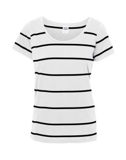 Vero Moda T-Shirt - Molly Striped  - Snow White-Black