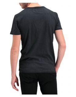 Garcia Rico - Schwarzes T-Shirt mit Rundhalsausschnitt - Hinten