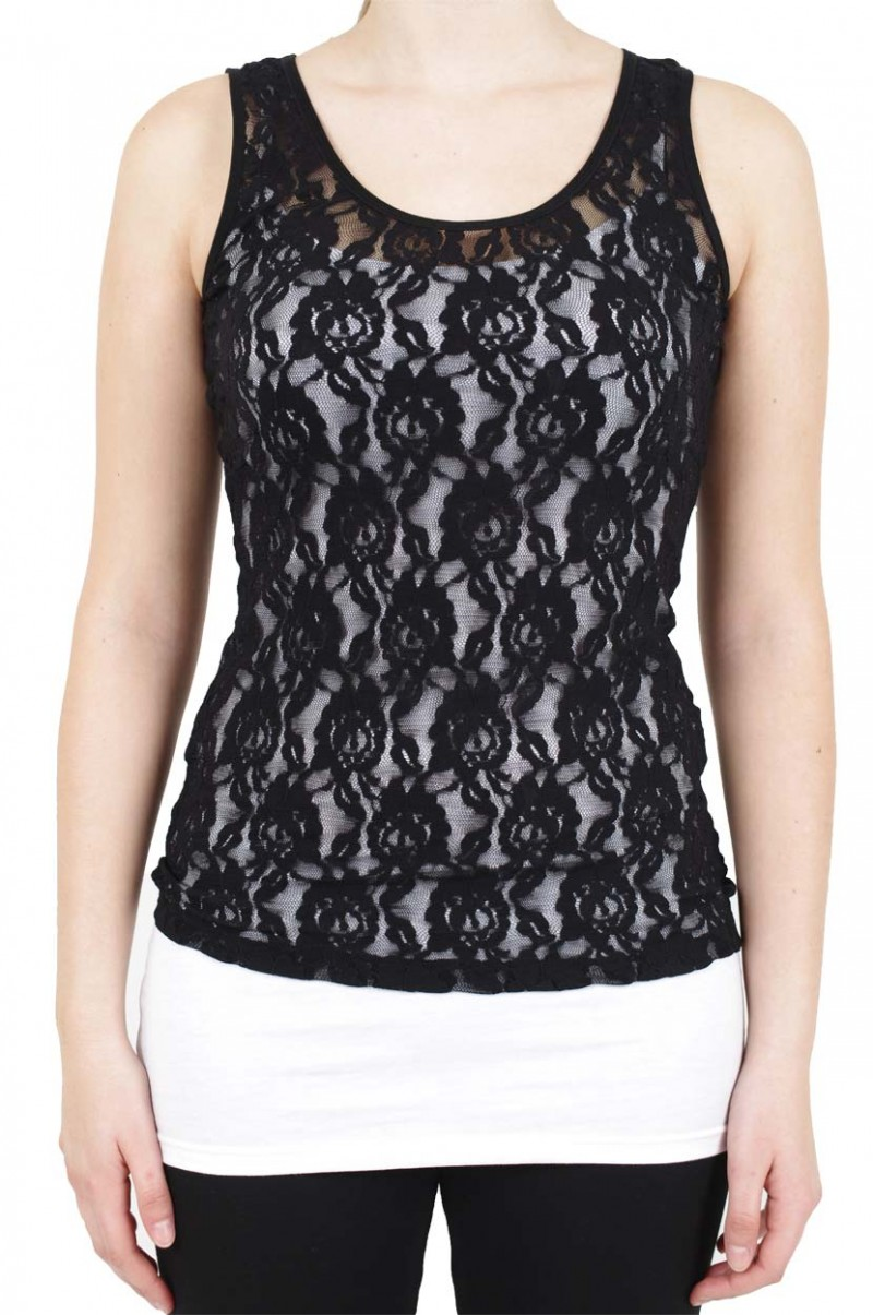 Vero Moda Lilly Lace - Top - Black v