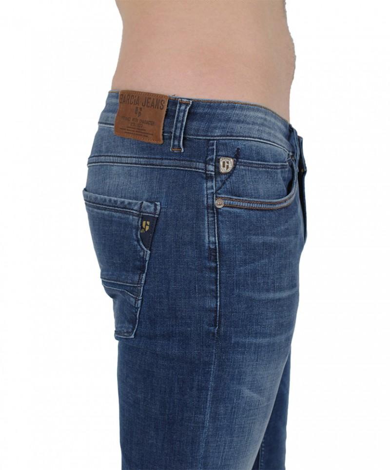 GARCIA FERMO Jeans - Super Slim Fit - Medium Blue Used
