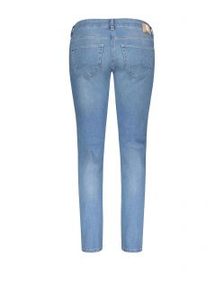 MAC Carrie Pipe - Straight Fit Jeans - Light Blue Used - Hinten