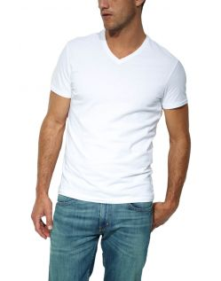 Levis T-Shirts - Doppelpack V-Neck -  weiß